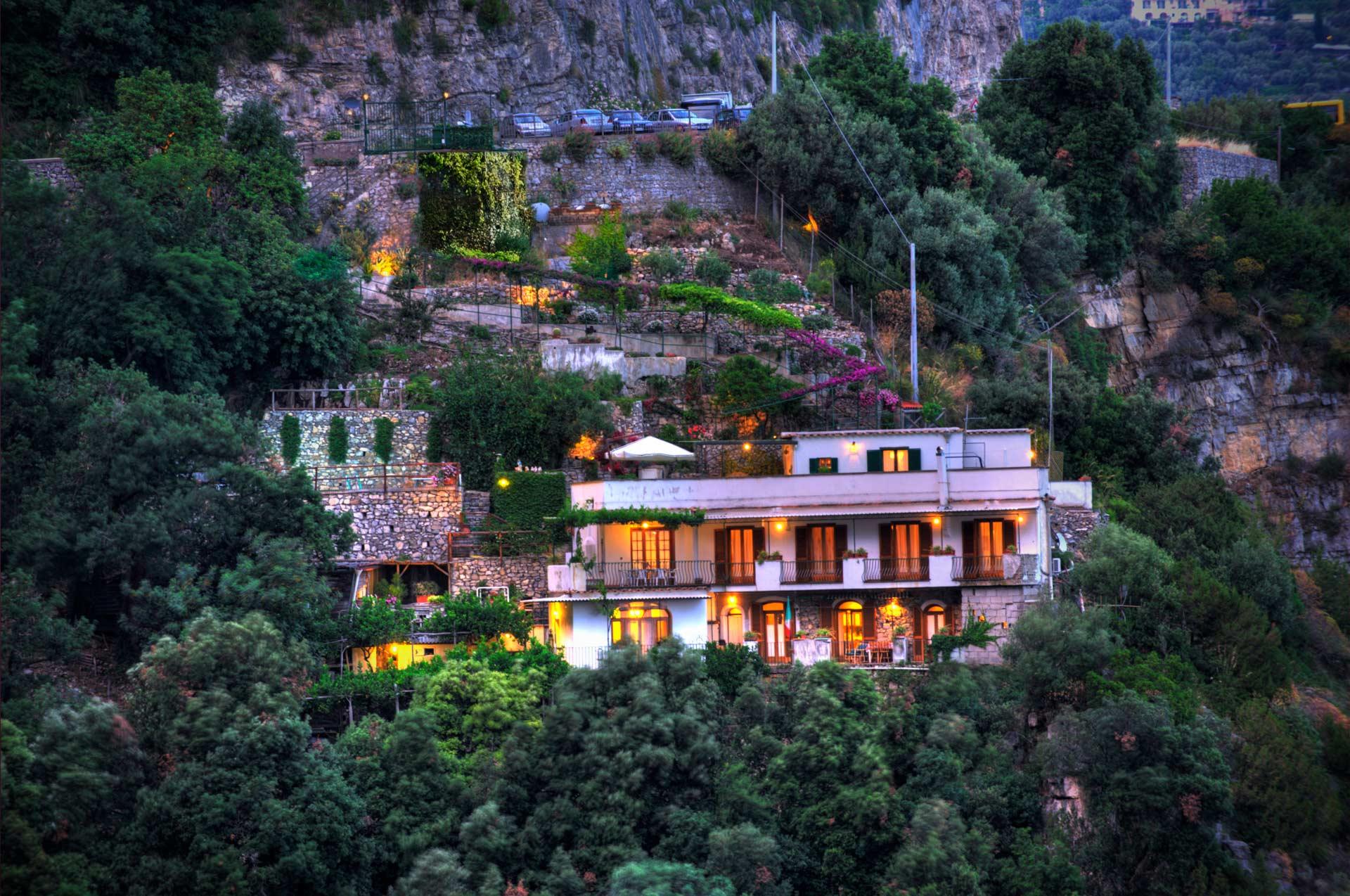 Villa at sunset